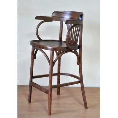 """Барный деревянный стул """"Аполло-65"""", венский, высота сиденья 65 см"""
