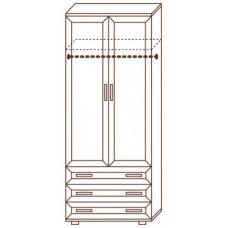 Шкаф для одежды МС-100 с комодом