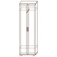 Шкаф для одежды МС-128, 60х56х218 см