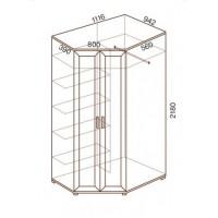 Шкаф для одежды МС-145, угловой