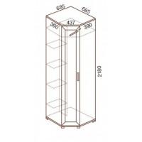 Шкаф для одежды МС-147, угловой