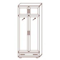 Шкаф для одежды МС-156, 80х39х218 см
