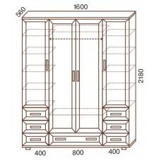 Шкаф для одежды МС-157