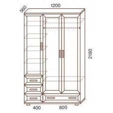 Шкаф для одежды МС-158