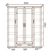 Шкаф для одежды МС-159