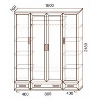 Шкаф для одежды МС-160