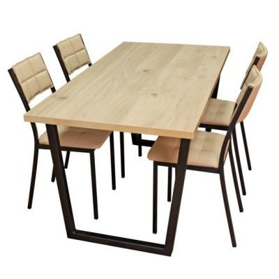 Обеденная группа: стол Патика + 4 стула Дункан