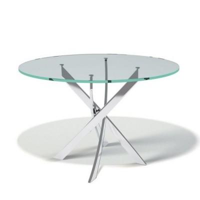 Стол обеденный с прозрачным стеклом KENNER R1200tr, не раздвижной